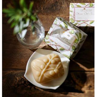 コスメキッチン(Cosme Kitchen)のTRINITAE トリネティ オリーブオイルソープ 洗顔 石鹸 ラベンダー(ボディソープ/石鹸)