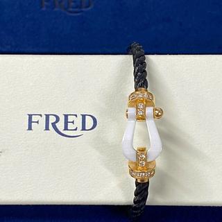 フレッド(FRED)のFred フレッドフォース10 1連ケーブル LMセラミックハーフダイヤ(ブレスレット)