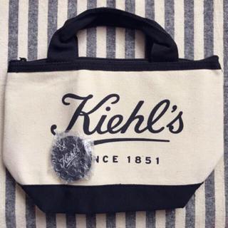 Kiehl's - Kiehl's 保冷トートバッグ&チェーン付きミニミラー