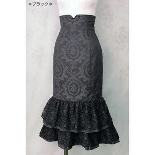 ヴィクトリアンメイデン(Victorian maiden)のVictorian maiden ホーリーローズマーメイドスカート ブラック(ひざ丈スカート)