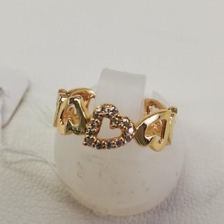 K18 18金ハートダイアモンドリング(リング(指輪))