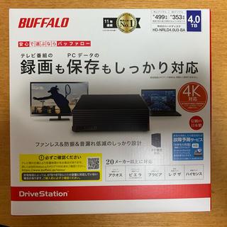 Buffalo - 新品未開封■USB3.1/USB3.0対応 外付けHDD 4TB