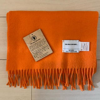 THE INOUE BROTHERS Brushed Scarf ORANGE