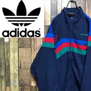 adidas - 【激レア】アディダスオリジナルス☆刺繍ロゴカラーマルチナイロンジャケット 90s