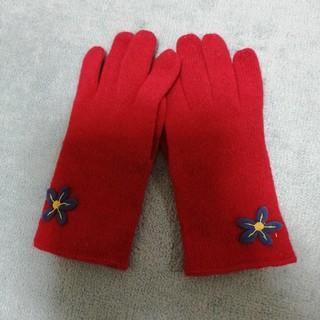 JILLSTUART - 新品未使用ジルスチュアート赤×ブルーのお花の手袋