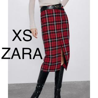 ザラ(ZARA)のZARA ザラ スカート チェック柄ペンシルスカート(ひざ丈スカート)