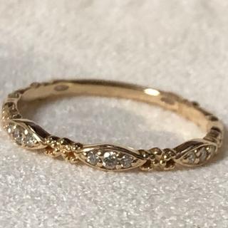 アガット(agete)のアガット ダイヤ ピンクゴールド リング カルム(リング(指輪))