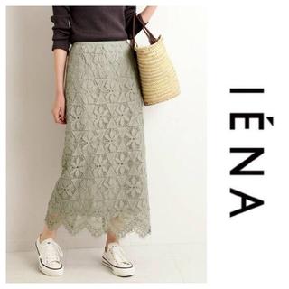 IENA - イエナ レースタイトスカート グリーン 40