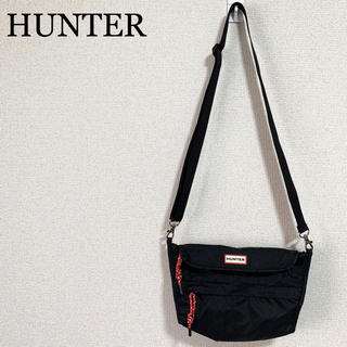 HUNTER - HUNTER ハンター ショルダーバッグ 黒 ロゴマーク ボディバッグ ポーチ