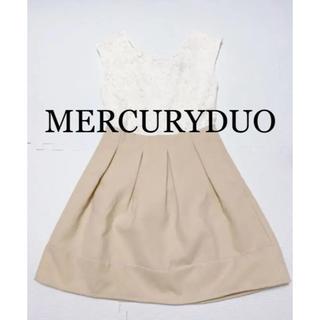 MERCURYDUO - MERCURYDUO 異素材コンビワンピース レース