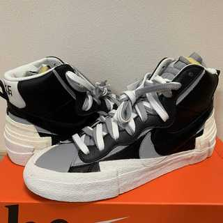 28.5cm Nike Blazer Mid sacai Black Grey