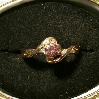 ◆37◆パープルカラーのゴールドリング(リング(指輪))