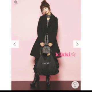 EATME - ❤️【送料込】EATME 襟 フリル コート ブラック