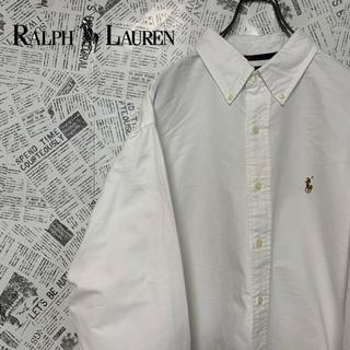 Ralph Lauren - 90s ラルフローレン ポニー刺繍ロゴ BDシャツ 状態良好 XLサイズ