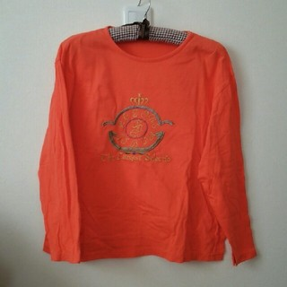 個性的デザイン◆アラビアン風◆オレンジトップス(Tシャツ(長袖/七分))