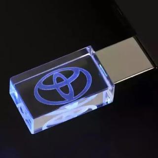 【新品・送料無料】トヨタ USBメモリ32GB TOYOTA 青 LED