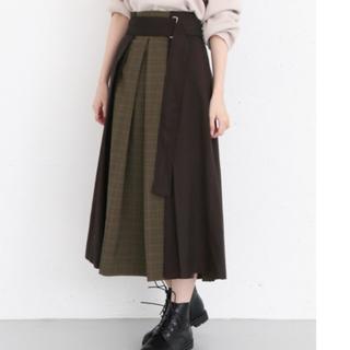 KBF - KBF mixパターンデザインスカート
