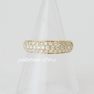 PonteVecchio - 美品【ポンテヴェキオ】K18YG  ダイヤモンド  パヴェ リング 0.38ct
