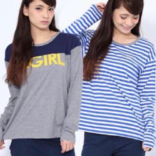 エックスガール(X-girl)のリバーシブル 長袖Tシャツ(カットソー(長袖/七分))