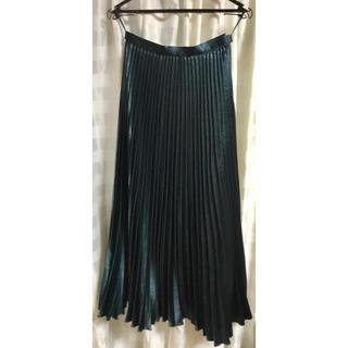 UNITED ARROWS - UNITED ARROWS サテン プリーツスカート