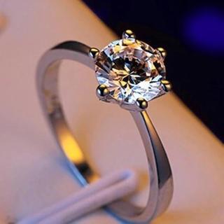 15号ホワイトゴールド!ラグジュアリーAAA級CZダイヤモンド/エタニティリング(リング(指輪))