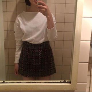 ミュウミュウ(miumiu)のmiumiu チェック スカート(ミニスカート)