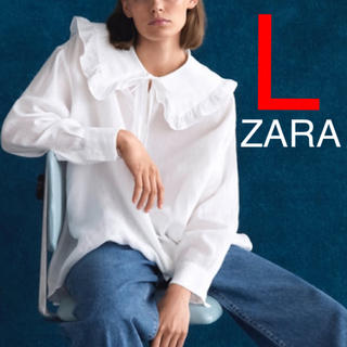 ザラ(ZARA)のZARA 丸襟ブラウス 丸襟 襟付き シャツ ブラウス 襟(シャツ/ブラウス(長袖/七分))