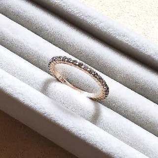 シルバー 925 リング ピンクゴールド コーティング フル エタニティ(リング(指輪))
