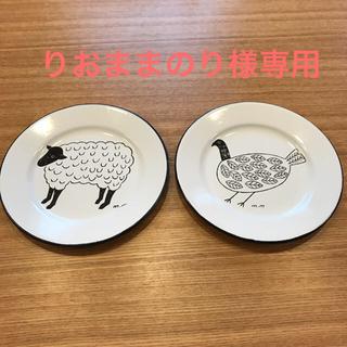 スタディオクリップ(STUDIO CLIP)の琺瑯の皿 スタジオクリップ (食器)
