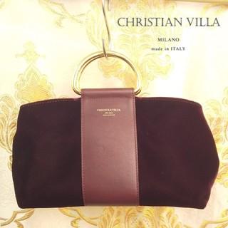 イエナ(IENA)のCHRISTIAN VILLA gold hd velour bag (ハンドバッグ)