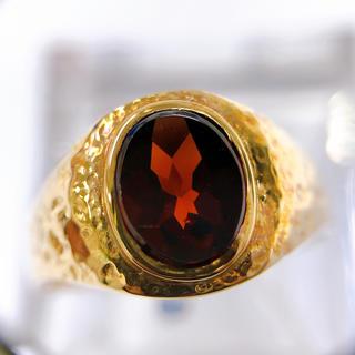 アンティーク☆K18 ガーネット リング(リング(指輪))