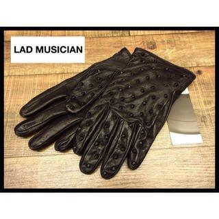 LAD MUSICIAN - 新品 ラッドミュージシャン レザー トンガリ ブラック スタッズ グローブ M