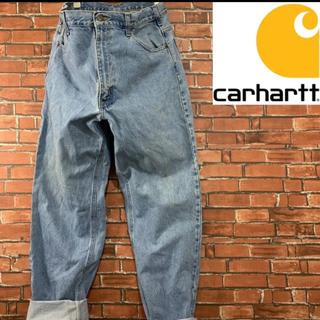 carhartt - 《希少》90s カーハート ビッグシルエット デニムパンツ バギー 皮パッチ