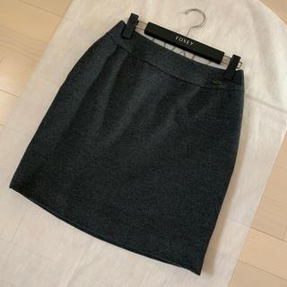 フォクシー(FOXEY)のフォクシー♡ウールカシミアスカート38(ひざ丈スカート)