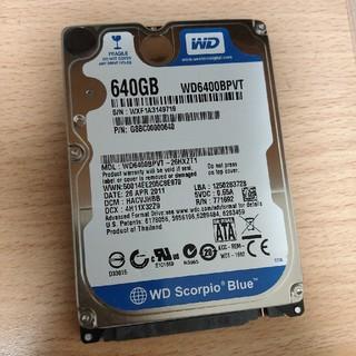 エヌイーシー(NEC)の2.5インチHDD WD6400BPVT 640GB 9.5mm(PCパーツ)