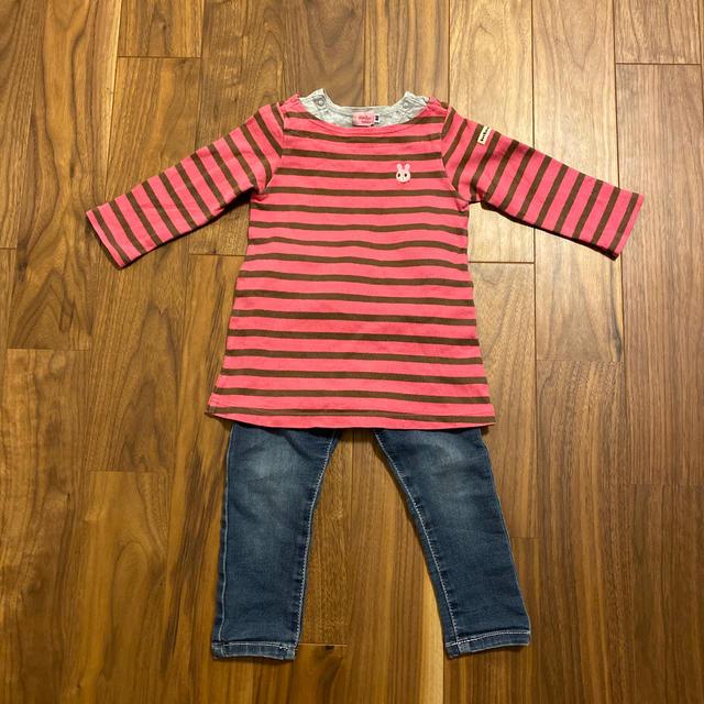 mikihouse(ミキハウス)のミキハウス ボーダートップス 80 キッズ/ベビー/マタニティのベビー服(~85cm)(シャツ/カットソー)の商品写真