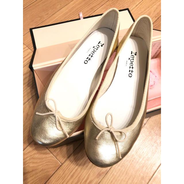 repetto(レペット)のRさま専用 2/1まで☆レペット バレエシューズ ゴールド 36.5 レディースの靴/シューズ(バレエシューズ)の商品写真