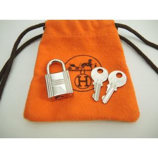 Hermes - エルメス 南京錠 鍵2個 シャインシルバー パドロック キー 121@ 29