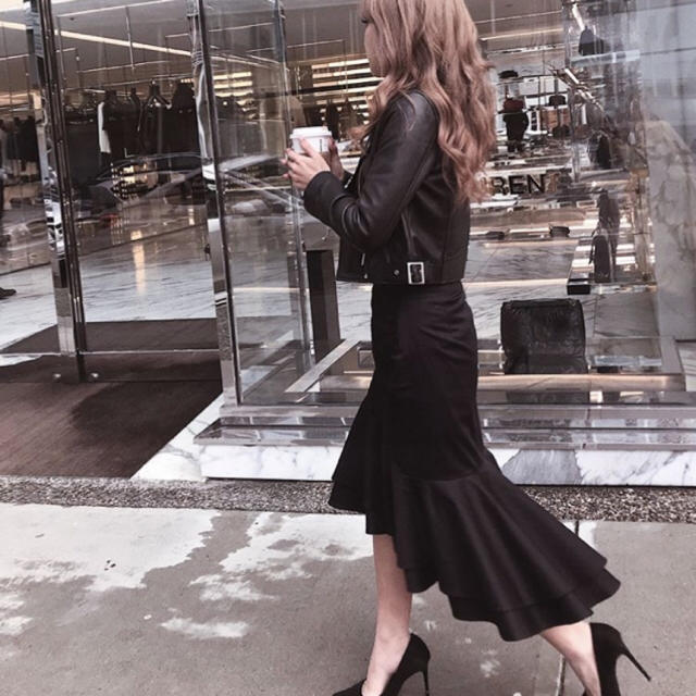 eimy istoire(エイミーイストワール)のeimyistoire  ハイウエストマーメイドスカート  レディースのスカート(ロングスカート)の商品写真