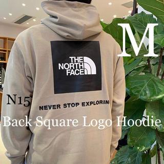 THE NORTH FACE - 【M】ノースフェイス★パーカー★ツイルベージュ★スクエアロゴ★NT12034