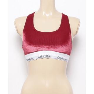 カルバンクライン(Calvin Klein)のCALVIN KLEIN UNDERWEAR レーサーバック ブラレット 赤 S(ブラ)