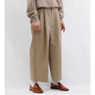 UNUSED - URU 2 tuck wide pants サイズ2 ベージュ