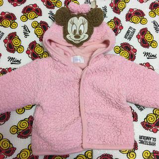 Disney - Disney 60〜70cm モコモコ アウター ミニーちゃん  ジャンバー