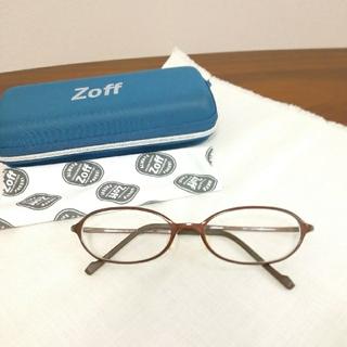 ゾフ(Zoff)のゾフスマートメガネオーバル美品ブラウン2019年9月購入着用5回くらい(サングラス/メガネ)