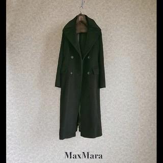 Max Mara - 超高級 極美品 マックスマーラ 一級品イタリア製モダンブラックコート 肉厚生地