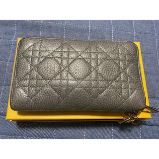 クリスチャンディオール(Christian Dior)のディオール ラウンドジップウォレット シルバー(財布)