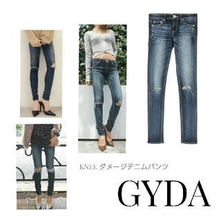 GYDA - GYDA KNEE ダメージデニムパンツ スキニー