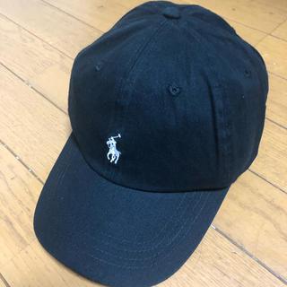 POLO RALPH LAUREN - POLO ラルフローレンキャップ 黒に白ロゴ刺繍