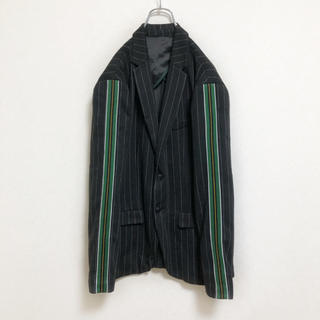 ZARA - 【廃盤】ZARA 総柄 サイドライン テーラードジャケット メンズ L 古着