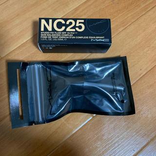 MAC - 新品 スタジオ フィックスフルイッド ファンデーション NC25